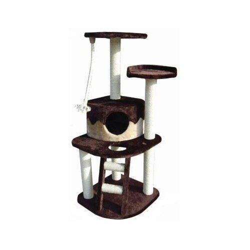 Игровой комплекс Fauna International Almerich 50 х 50 х 121 см бежевый/коричневый