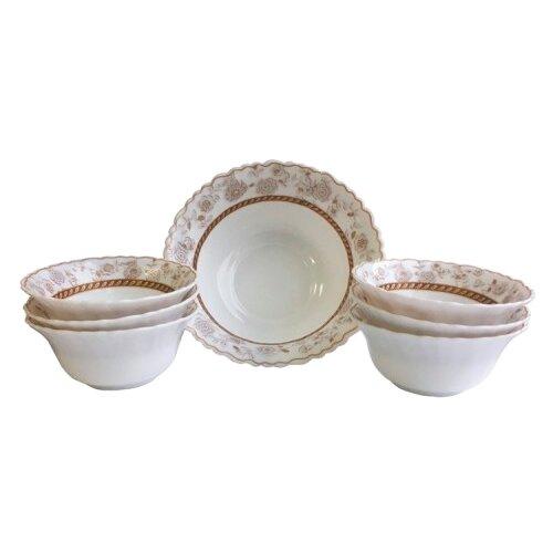 Chinbull Набор салатников Антураж, 7 предметов белый