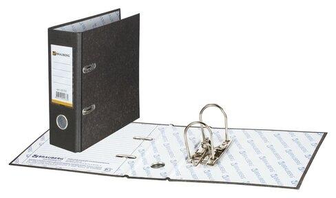 BRAUBERG Папка-регистратор А5 с мраморным покрытием, 70 мм — купить по выгодной цене на Яндекс.Маркете