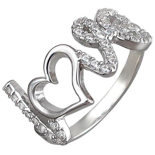 Эстет Кольцо с фианитами из серебра 01К1510987, размер 18