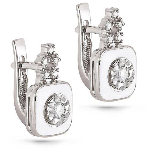 Фото - KABAROVSKY Серьги с 12 бриллиантами из белого золота 12-1803-1010 kabarovsky кольцо с 11 бриллиантами из белого золота 11 1803 1010 размер 17