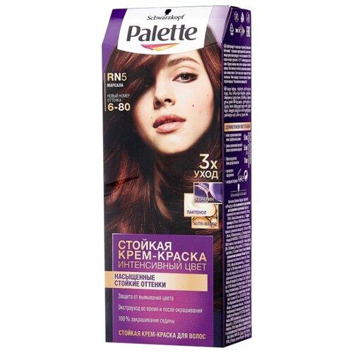 Palette Интенсивный цвет Стойкая крем-краска для волос, RN5 6-80 Марсала