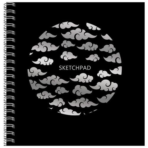 Купить Скетчбук для зарисовок Канц-Эксмо Полеты в облаках 19.5 х 19.5 см, 200 г/м², 20 л., Альбомы для рисования