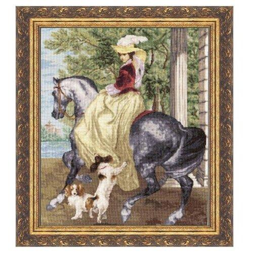 цена на Золотое Руно Набор для вышивания Утренняя прогулка 44 х 36 см (ЧМ-005)