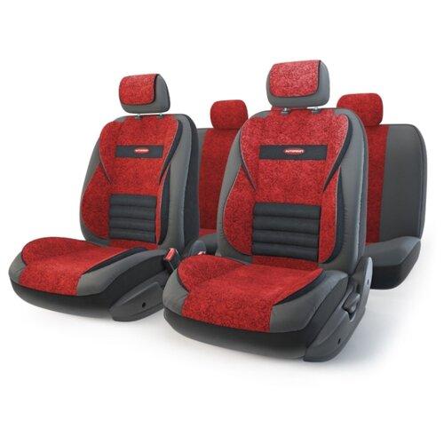 Комплект чехлов AUTOPROFI MLT-1105GV черный/красный