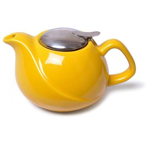 Fissman Заварочный чайник с ситечком 750 мл, желтый недорого