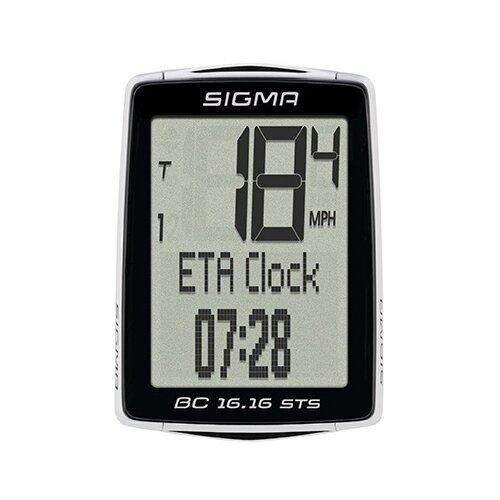 цена на Велокомпьютер SIGMA BC 16.16 STS, 16 функций, черный/белый