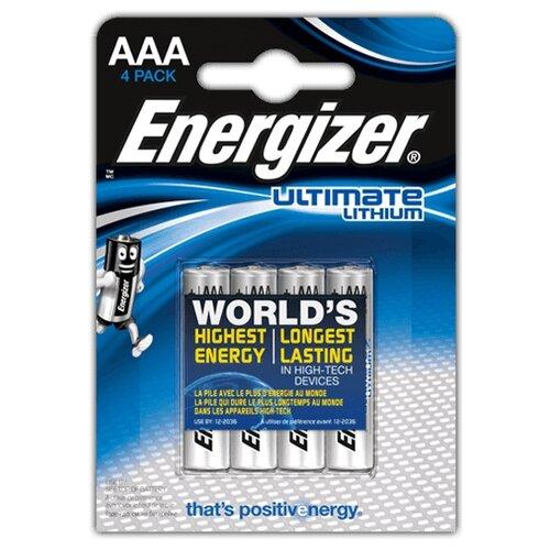 Батарейка Energizer Ultimate Lithium AAA 4 шт блистер батарейка camelion green series aaa 4 шт блистер