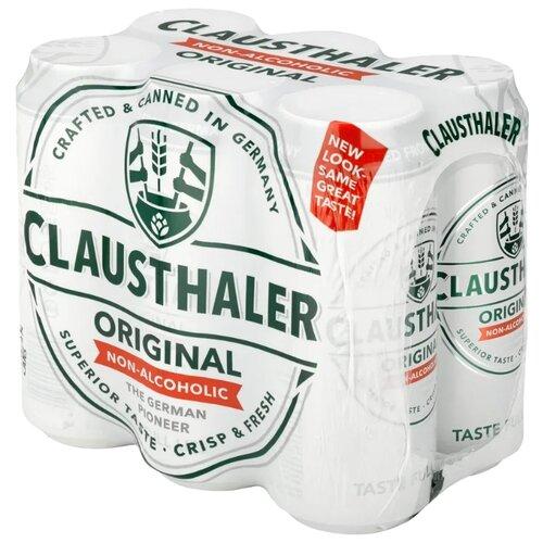 Светлое пиво Clausthaler Original безалкогольное 0,5 л 6 штБезалкогольное пиво и вино<br>