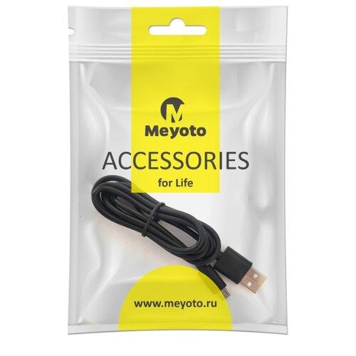 Кабель Meyoto microUSB - USB (MECAMU1-0BL01) 1 м черный