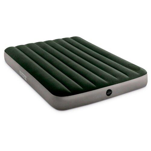 Фото - Надувной матрас Intex Full Dura-Beam Downy Airbed with Built-in Foot Pump (64762) серый/зеленый надувной матрас intex mid rice airbed 64116 светло темно серый