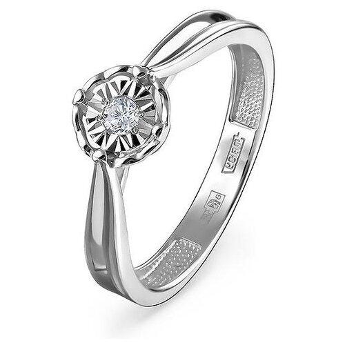 KABAROVSKY Кольцо с 1 бриллиантом из белого золота 11-11279-1000, размер 17 фото
