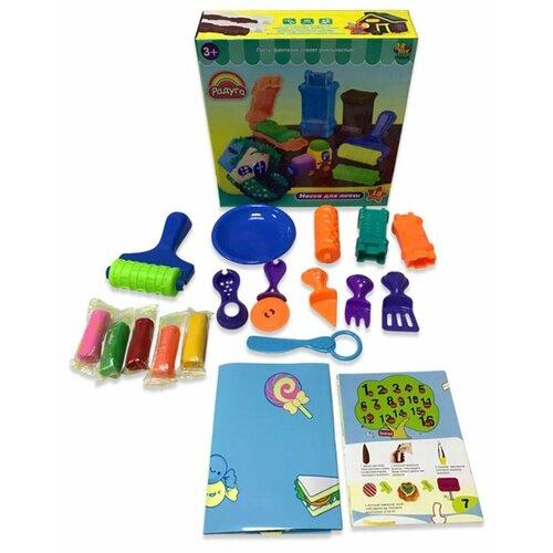 Купить Масса для лепки ABtoys Радуга 5 цветов 18 предметов (118929), Пластилин и масса для лепки