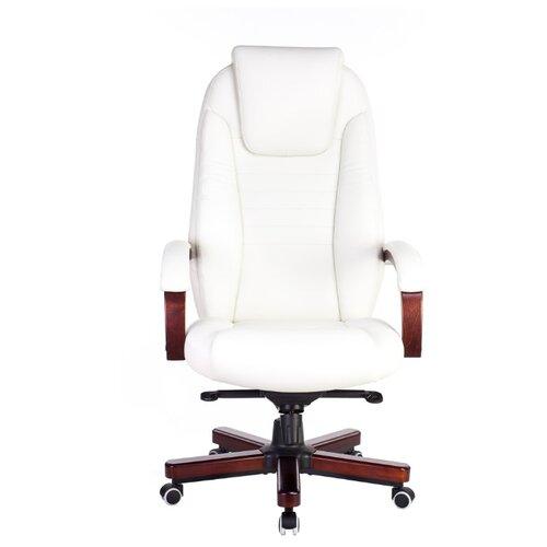 Компьютерное кресло Бюрократ T-9923WALNUT для руководителя, обивка: натуральная кожа, цвет: слоновая кость компьютерное кресло бюрократ t 9927walnut low для руководителя обивка натуральная кожа цвет черный