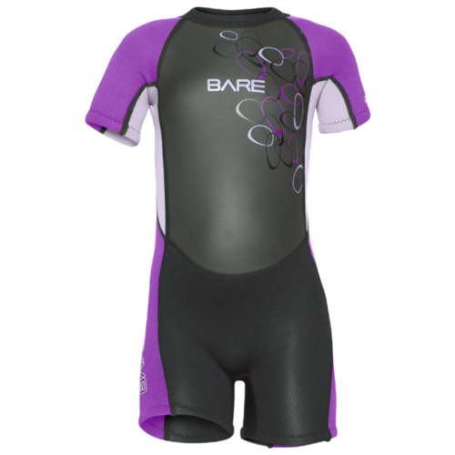 Детский гидрокостюм Bare Tadpole Shorty р. 4, фиолетовый
