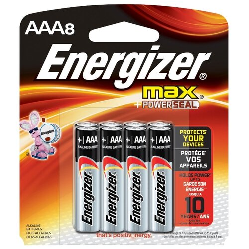 Фото - Батарейка Energizer Max+Power Seal AAA/LR03 8 шт блистер батарейка duracell ultra power aaa lr03 12 шт блистер