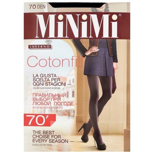 Колготки MiNiMi Cotonfill 70 den, размер 4-L, nero (черный) колготки minimi lanacotone 180 den размер 4 l nero черный