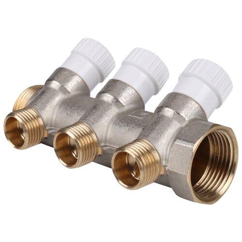 Коллектор проходной регулируемый STOUT (SMB 6851 011203) 1 НР-ВР, 3 отвода 1/2 коллектор проходной запорный stout smb 6200 341204 3 4 нр вр 4 отвода 1 2 красные ручки