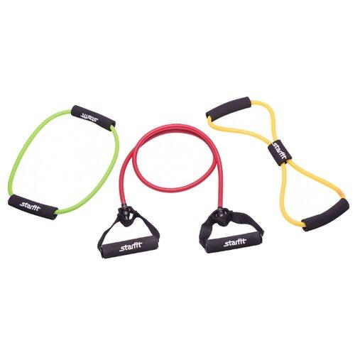 Эспандер универсальный 3 шт. Starfit ES-604 красный/желтый/зеленый