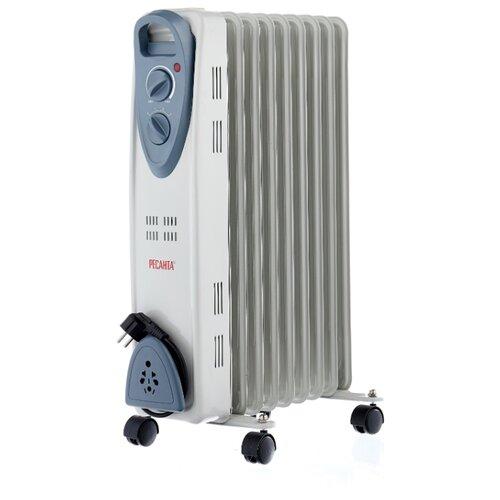 Масляный радиатор РЕСАНТА ОМ-9Н белый/серый