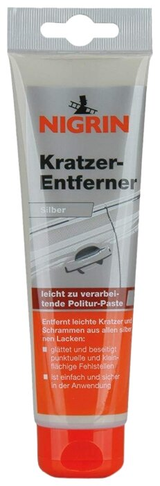NIGRIN паста полировочная для кузова Kratzer-Entferner серебряная, 0.15 кг