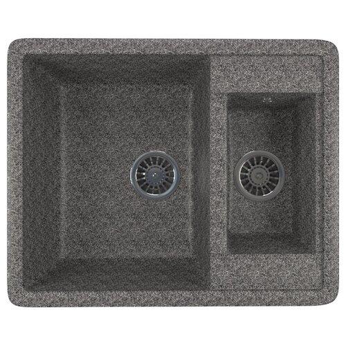 Врезная кухонная мойка 60 см Mixline ML-GM21 темно-серая 309 недорого