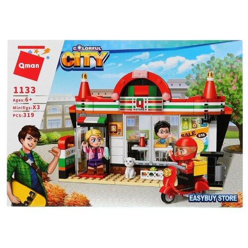 Купить Конструктор Qman City 1133 Магазин, Конструкторы