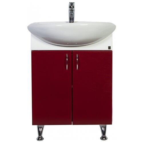 Тумба для ванной комнаты с раковиной Orange Роса Ro-60TU, ШхГхВ: 61.5х47х86 см, цвет: бордовый