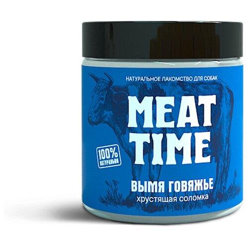 Лакомство MEAT TIME для Собак Вымя говяжье Хрустящая соломка 50г соломка хрустящая со вкусом аджики 50 г
