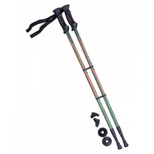 Палки для скандинавской ходьбы со сменными комплектующими BERGER Longway 2-секционная 77-135 см темно-зеленый/оранжевый