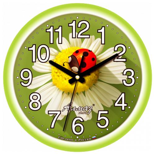 Часы настенные кварцевые Алмаз E08 зеленыйЧасы настенные<br>