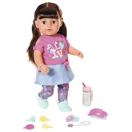 Купить Интерактивная кукла Zapf Creation Baby Born Сестричка брюнетка, 43 см, 827-185, Куклы и пупсы