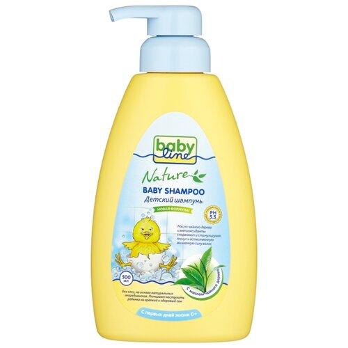 BabyLine Nature Шампунь с маслом чайного дерева 500 мл babyline шампунь для младенцев с помпой babyline 500 мл