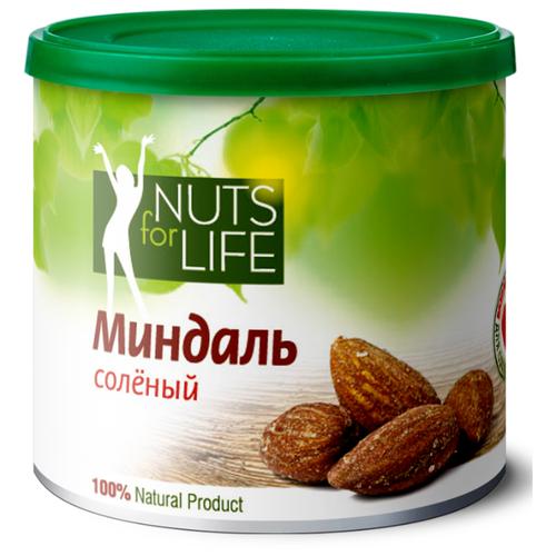 Миндаль Nuts for Life обжаренный соленый 115 г nuts for life арахис в сахарной глазури с соком натуральной клюквы 115 г