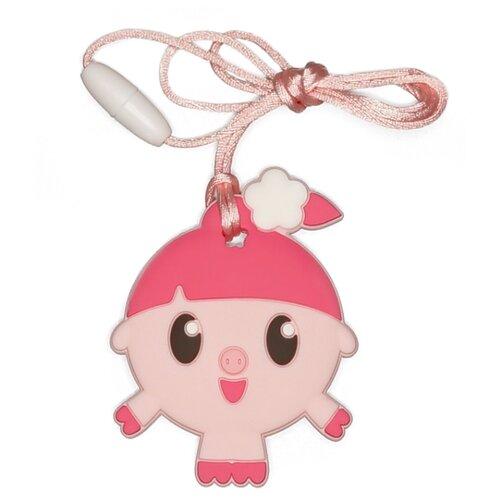 Купить Прорезыватель iSюминка Малышарики Нюшенька на шнурке розовый, Погремушки и прорезыватели