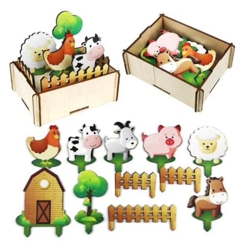 Купить Игровой набор Woodland Ферма 143204, Игровые наборы и фигурки