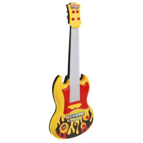 Купить Наша игрушка гитара 919A-2 желтый, Детские музыкальные инструменты