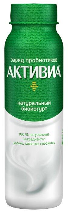 Питьевой йогурт Активиа натуральный 2.4%, 260 г — цены на Яндекс.Маркете