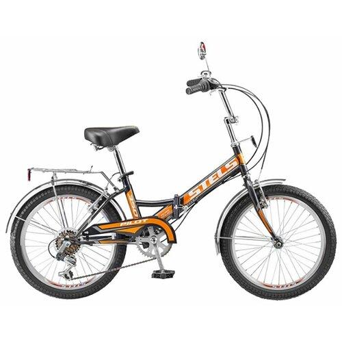 Городской велосипед STELS Pilot 350 20 (2016) черный/оранжевый 13