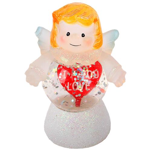 Снежный шар ORIENT Мой ангел 7,2 см белый/желтый