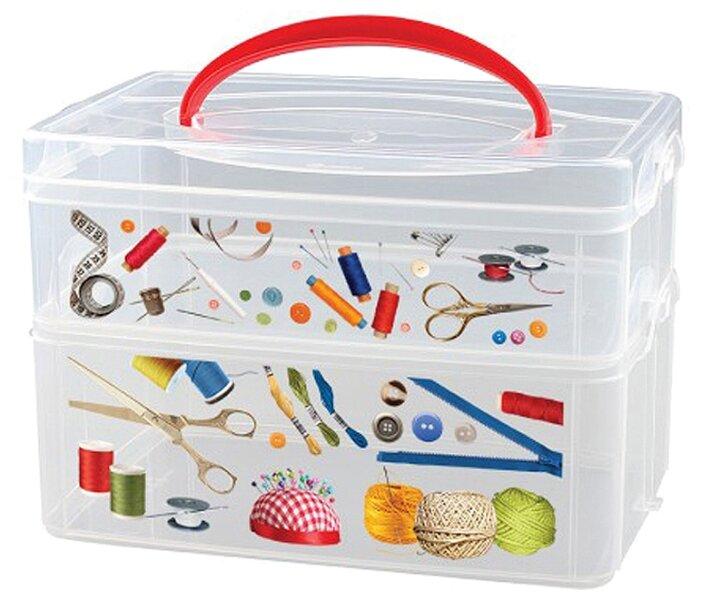 Econova Коробка универсальная Multi Box 2 секции, 24,5х16х16,5 см — купить по выгодной цене на Яндекс.Маркете