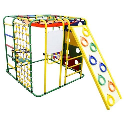 Купить Спортивно-игровой комплекс Формула здоровья Кубик-У Плюс зеленый/радуга, Игровые и спортивные комплексы и горки