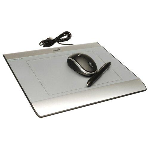 Графический планшет Genius MousePen I608X серебристый графический планшет genius mousepen i608x раб зона 6х8 дюймов стилус беспроводная мышь разрешение 2540lpi скорость 100dps горячих кл 29 usb