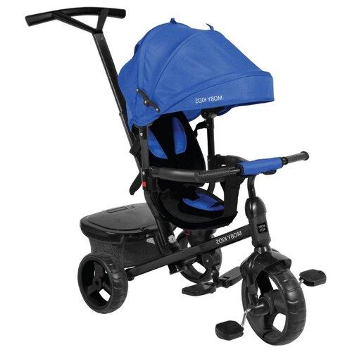 Купить Трехколесный велосипед Moby Kids Rider 360° 10x8 EVA синий, Трехколесные велосипеды