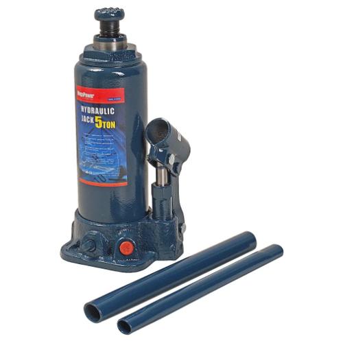 Домкрат бутылочный гидравлический MegaPower M-90504 (5 т) синий домкрат бутылочный гидравлический megapower m 90504s 5 т синий