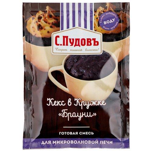 С.Пудовъ Готовая смесь Кекс в кружке Брауни, 3 шт, 0.07 кг фото