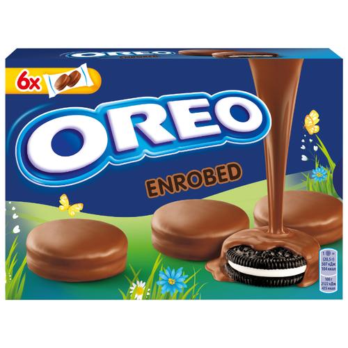 Печенье Oreo ENROBED с какао и начинкой с ванильным вкусом, покрытое шоколадной глазурью, 246 г черемушки мини бамбини сахарное печенье какао 150 г page 3