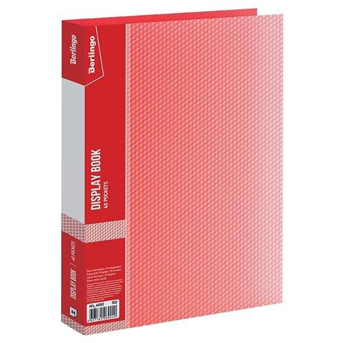 Купить Berlingo Папка с 40 вкладышами Diamond A4, пластик красный, Файлы и папки
