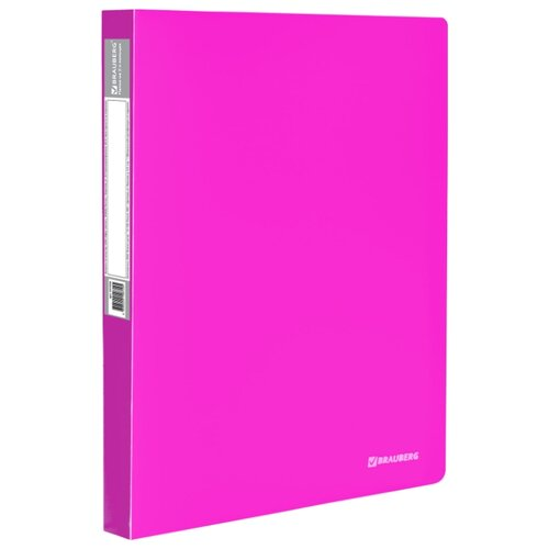 Купить BRAUBERG Папка на 2 кольцах Neon А4, 25 мм розовая, Файлы и папки