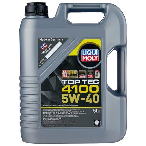 Фото - Полусинтетическое моторное масло LIQUI MOLY Top Tec 4100 5W-40 5 л полусинтетическое моторное масло liqui moly top tec 4200 diesel 5w 30 1 л